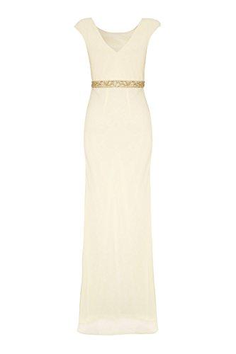 Damen 1012820 Ivory ohne Tonia silber schwarz Silver Kleid Dynasty Schal lange Stil ZHwfAq