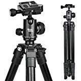 Abithid Camera Tripod, Portable Lightweight Compact Travel Dslr Tripod With 360 Ball Head, 1/4 Plate,Two Gradienter And Bag For Canon,Nikon,Sony,Samsung,Olympus Camera (Best Compact Dslr For Travel)