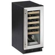 Wine Captain Wine Cooler - U-Line : 1115WCS 15 Wine Cooler Captain Model - Tri Zone 24 Bottle Capacity
