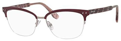 138 Eyeglasses - Jimmy Choo Metal Rectangular Eyeglasses 53 0LYG Matte Burgundy
