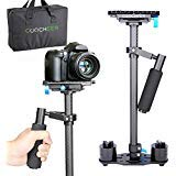COOCHEER Camera Stabilizer Carbon Fiber Handheld Steadicam with Quick Release Plate(1/4''and 3/8''Screw) for DSLR and Video...