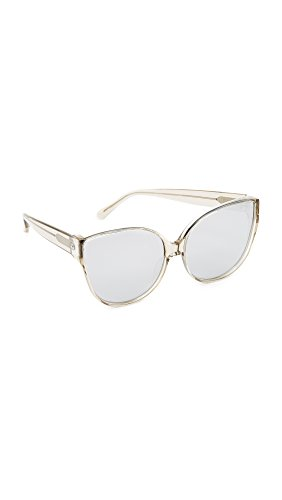 Linda Farrow Luxe Women's Oversized Cat Eye Sunglasses, Truffle/Platinum, One - Sunglasses Linda Farrow Oversized