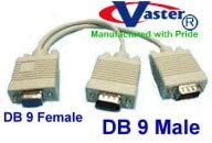 RS 232 DB9 Splitter Cable