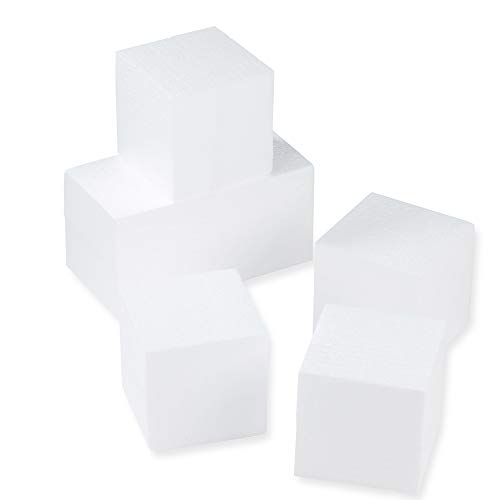 Styrofoam Cubes - Craft Foam Blocks - 6-Piece Polystyrene
