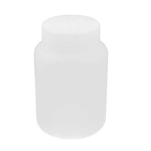 White Plastic Lab 500mL Capacity Widemouth Leak Proof Chemical Bottle (Chemical Container compare prices)