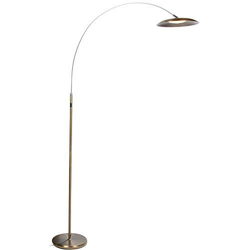 Brightech Atlas LED Floor Lamp- Gold Dimmable Contemporary M