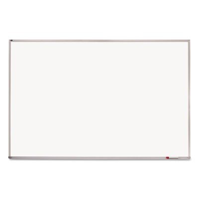 Quartet Writing Board - 96quot; Width x 48quot; Height - White Melamine Surface - Anodized Aluminum Frame - Film - 1 Each by Quartet