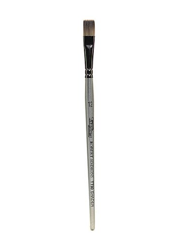 Robert Simmons Titanium Brushes Short Handle Single Stock 12 flat shader TT60