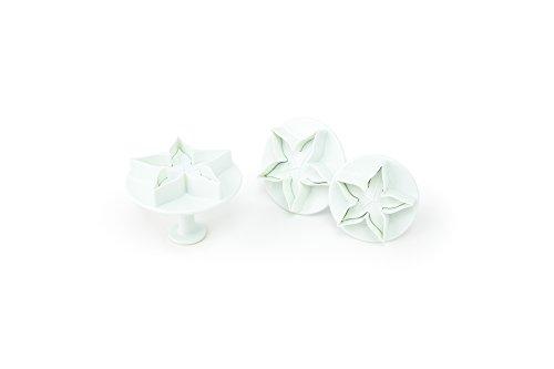 Fox Run Brands 67035 Calyx Leaf Plunger Cutters White