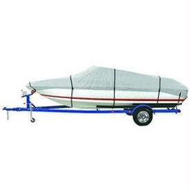 Cuddy Cabin Boat Manufacturers - Dallas Manufacturing Co. Reflective Polyester Boat Cover E - 20-22' V-Hull Runabouts - Beam Width to 100