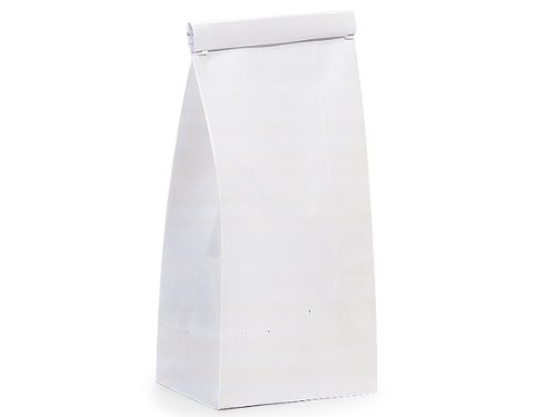 1000 1/2 lb White Coffee Bags 3-3/8''x2-1/2''x7-3/4'' (Unit Pack - 1000) by Better crafts