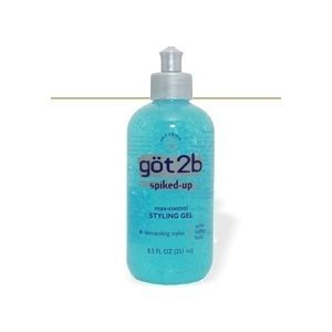 (Got2B Spiked-Up Styling Gel, Max-Control, 2.5 oz. (Pack of 3))
