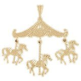 CleverEve 14K Gold Charm Carousels 3.5 Grams