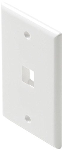 - Steren White Keystone Wall Plate, 1 Cavity, 310-201WH