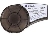 Brady M21-375-430-WT-CL Cartridge, B430 Clear Polyester Material, 0.375
