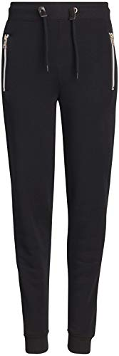 (Galaxy by Harvic Boys Basic Fleece Active Jogger Pant with Zipper Pockets, Black, Large/14-16')