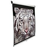 Manual Series 120 Diagonal, 4:3 Projection Screen - 96 W X 72 H White Case by Elite Screens