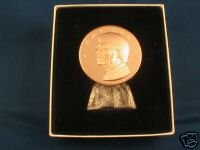 1977 Inaugural Medal-jimmy Carter-solid Bronze & Stand ()