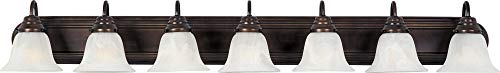 Maxim 8016MROI Essentials in Oil Rubbed Bronze Finish - Damp Rated Vanity Lights - 7 Lightings Lamp Set. Wall -
