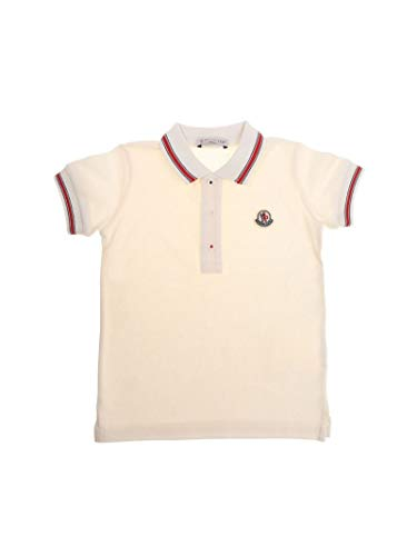 Moncler Baby Boys 83066058496F034 White Cotton Polo Shirt ()
