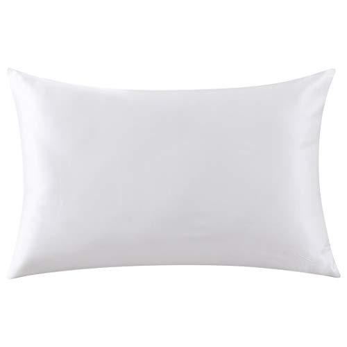 (ZIMASILK 100% Mulberry Silk Toddler Pillowcase for Kids,Both Sides 19 Momme Silk,1pc (Ivory, Toddler 14''X20''))