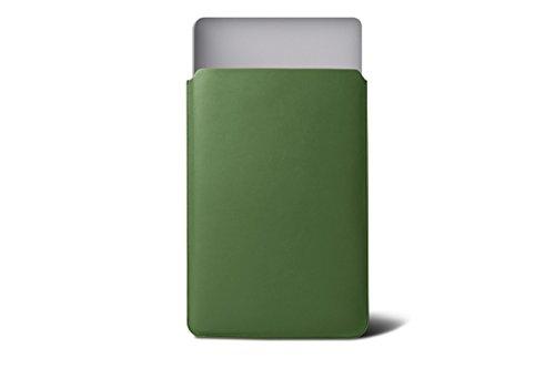 Lucrin - Etui für MacBook Air 13 Zoll - Königsblau - Glattleder Hellgrün