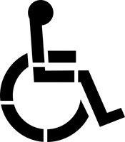 Handicap Parking Stencil | 36 inch Handicap Symbol (1 part stencil) | 3 inch stroke | 60 mil | for Parking Lots