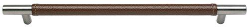 Leather Zanzibar (Atlas Homewares 282-OW/SS 368-mm Zanzibar Leather Long Pull, Stainless Steel)