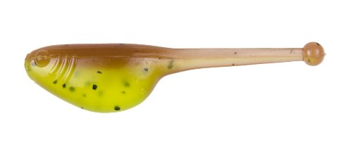 Strike King Mr. Crappie Shadpole Panfish Bait, Pumpkinseed/Chartreuse, 2-Inch - Soft Baits For Panfish