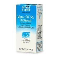 Muro 128 5 Percent Sterile Opthalmic Ointment .12 oz (3.5 (Opthalmic Ointment)