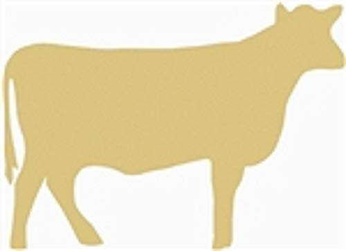 Cow Cutout Unfinished Wood Farm Steak Livestock Ranch Western MDF Shape Canvas Style 1 (6