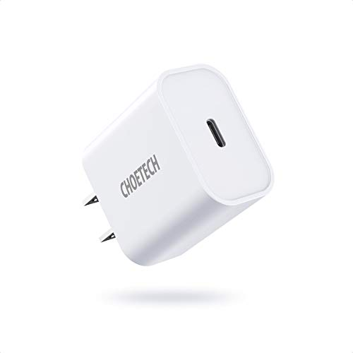 USB C Charger, CHOETECH 20W iPhone Fast Charger Block, Durable Power Delivery 3.0 USB C Wall Charger Plug for iPhone 12/12 Mini/12 Pro/12 Pro Max/11 Pro Max/SE, AirPods Pro, iPad Pro, Galaxy-White