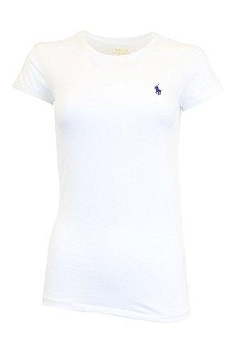 Ralph Lauren Sport Womens Crewneck T-shirt (Medium, White)