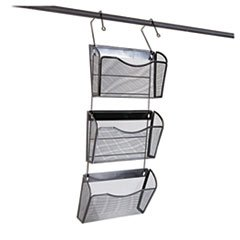 Universal 20011 Mesh Three-Pack Wall Files with Hanger, Letter, Black - Universal Hanger