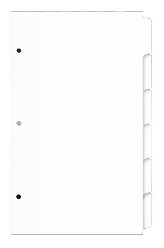 Nice 11x17 6 Tabbed Dividers, 14 x 8.5 Inches, White (490804)
