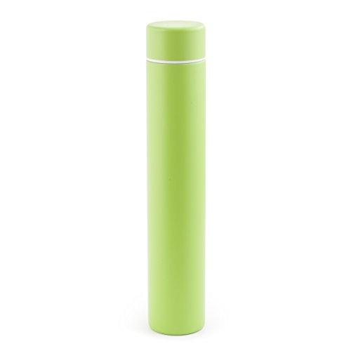 Kikkerland Slim Bottle, Green, 8 oz, Green