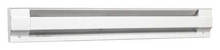 "72"" Electric Baseboard Heater, White, 1125/1500W, 208/240V"