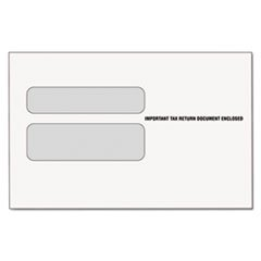 * Double Window Tax Form Envelope for W-2 Laser Forms, 9x5-5/8, 50/Pack