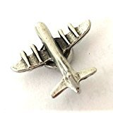 DECORATIVE AIRPLANE MAGNETS SET OF 6 ANTIQUE SILVER M-609AS