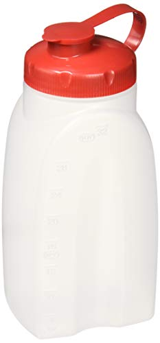 - Rubbermaid 071691309116 Home 1776348 Servin' Saver Storage Bottle, 1-Pack, White