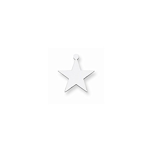 Sterling Silver Star Shape w/Eyelet Stamping (sold as single piece)
