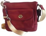 Coach 49170 Park Black Cherry Leather Swingpack Cross-body Bag