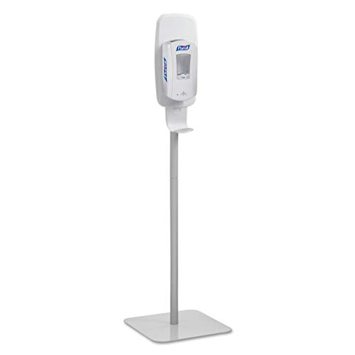 (PURELL Hand Sanitizer Dispenser Floor Stand, White/Grey, Floor Stand for use with PURELL LTX or TFX Touch-Free Sanitizer Dispensers - 2424-DS)