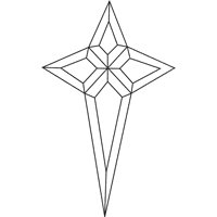 Stained Glass Supplies- Bevel Clusters- Star (4mm)