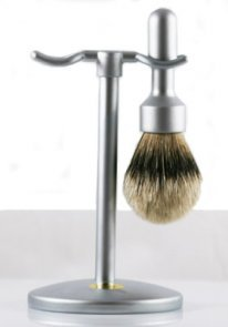 Merkur Shaving Set 2 pieces Satin Finish WITHOUT RAZOR by Merkur