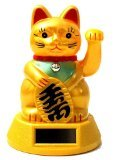 Bringer of Luck - Japanese Waving Lucky Cat - Now Solar Powered