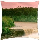 cumberland falls little niagara in kentucky - Throw Pillow Cover Case (18