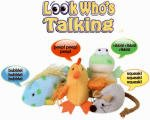 Multipet 36480 Look Who's Talking Cat Toy, Assortedcat Look Whos Talking Chicken