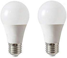 SECEIEL -Bombilla LED esférica E27, potencia y 480Lm, blanco ...