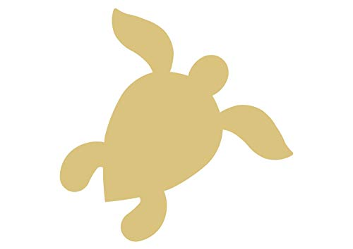 Sea Turtle Cutout Unfinished Wood Nautical Decor Beach House Decor Animal MDF Shaped Canvas Style 3]()
